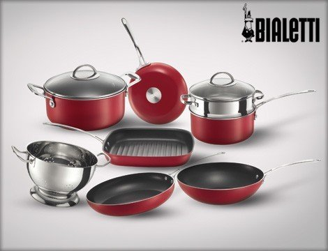 Batteria Pentole Red Glamour Bialetti