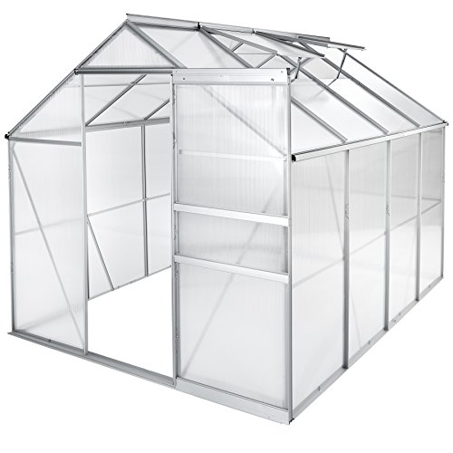 TecTake Serra da giardino in alluminio e...