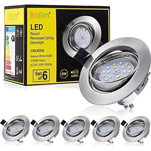Bojim 6 x Faretti LED da incasso per...