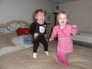 Two Little Monkeys Jumping on the Bed
