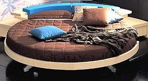 letto rotondo 300x164 - Letto sospeso: un complemento d'arredo innovativo e adatto ad ogni camera da letto moderna.