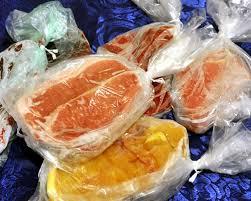 prodotti insacchettati per essere congelati