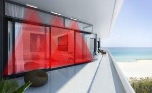 sensori infrarossi su balcone