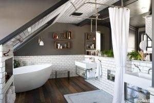 originale bagno in mansarda