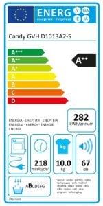 Candy a pompa di calore 10 kg targa energetica 150x300 - Asciugatrice - La Super Guida: La migliore, a gas, a pompa di calore, le classi energetiche - Le opinioni dei consumatori e molto atro ancora