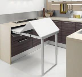Cucine con tavolo a scomparsa il segreto per ottimizzare lo spazio casina mia - Cucina tavolo estraibile ...