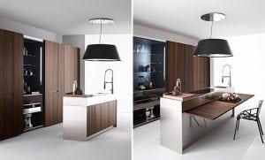 Cucine con tavolo a scomparsa: il segreto per ottimizzare lo spazio ...
