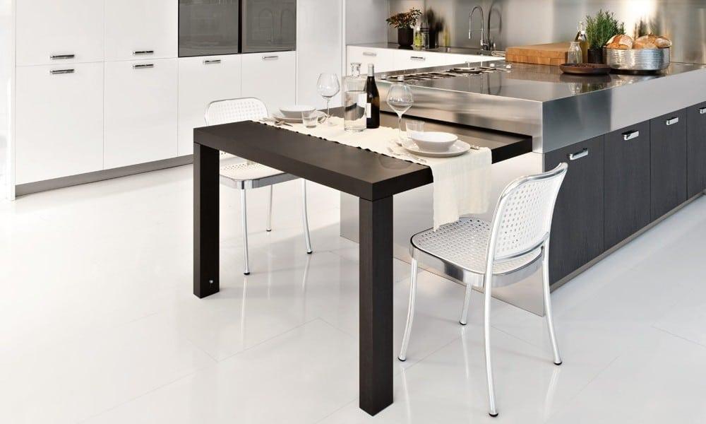 Cucina con tavolo a scomparsa - Cucina tavolo estraibile ...