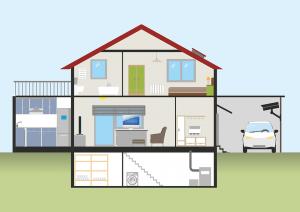 casa con riscaldamento a pavimento 300x212 - Riscaldamento a pavimento: quanto costa davvero?