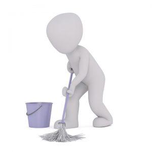 pulire per terra 300x300 - Microcemento: la soluzione perfetta per una pavimentazione moderna