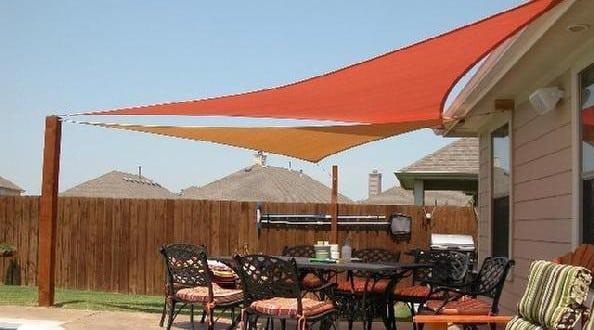 vele rossa e arancio - Le vele da giardino: idee pratiche per arredare con eleganza gli spazi esterni