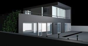 casa notturna 300x157 - Rilevatori di presenza per accensione luci da esterno