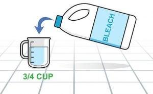 Candeggina Dosaggio 300x186 - Come togliere le macchie di candeggina gialle, rosa o rosse: indipendentemente dal colore possono essere eliminate!