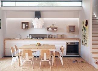 Cucina bianca e legno: quando purezza e naturalezza si ...