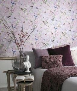 carta da parati romantica 255x300 - Carta da parati moderna: quale design per la camera da letto