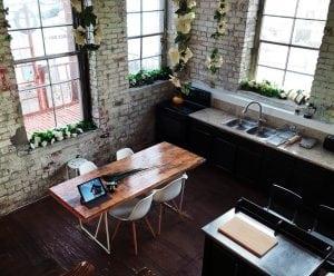 Cucina con Design Industriale 300x248 - Come arredare la propria casa in stile industriale: idee e consigli pratici