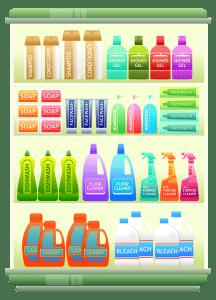 reparto detergenti 216x300 - Come pulire le fughe delle piastrelle con metodi naturali, semplici ed efficaci