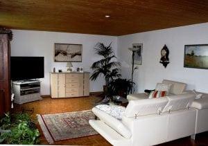soggiorno controsoffittato 300x211 - Controsoffitto in legno: dalle norme da rispettare ai principali metodi costruttivi