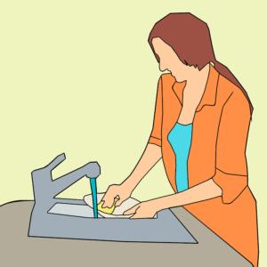 pulire fragranite 300x300 - Lavello fragranite: una scelta pratica e di stile per la propria cucina