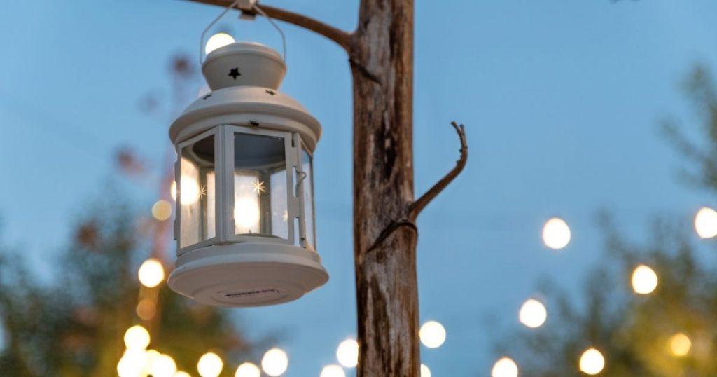 lanterne terrazzo giardino