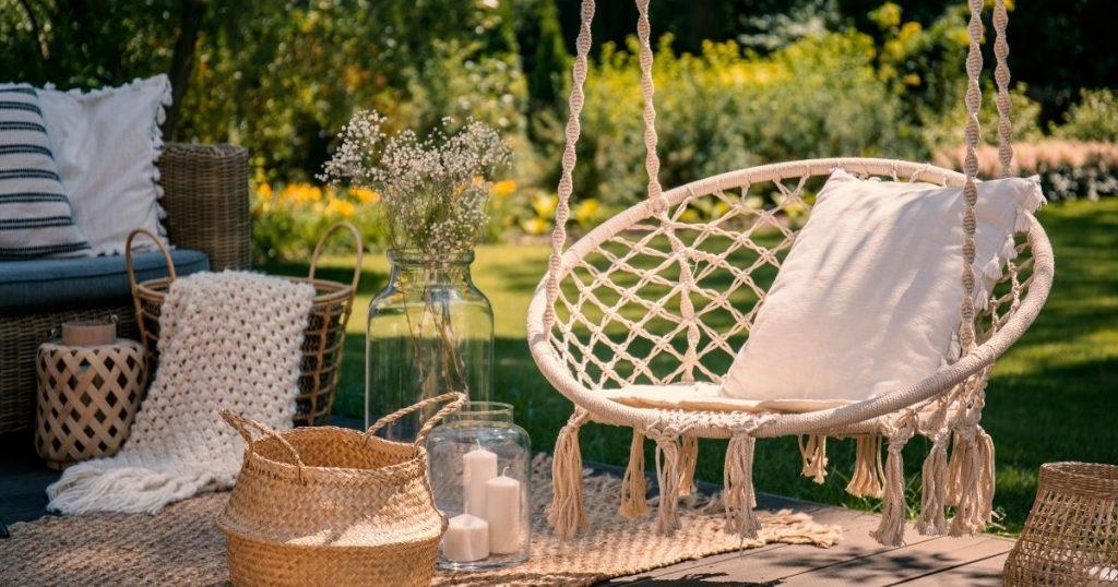 amaca da giardino sedia