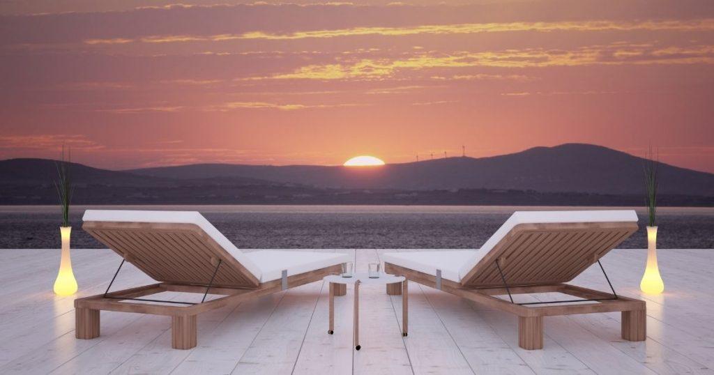 sdraio da terrazzo in legno
