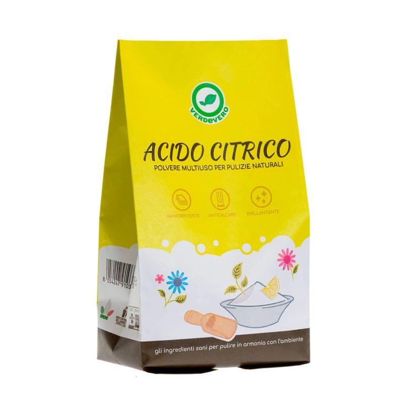 acido citrico odore lavatrice